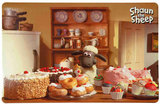 Shaun the Sheep Keramische voer/waterbak bruin 0.8 ltr / 16 cm + GRATIS PLACEMAT_10