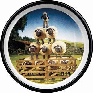 Shaun the Sheep Keramische voer/waterbak bruin 0.8 ltr / 16 cm + GRATIS PLACEMAT