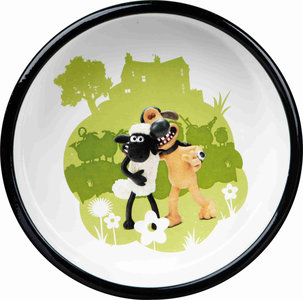 Shaun the Sheep Keramische voer/waterbak groen 0.8 ltr / 16 cm + GRATIS PLACEMAT