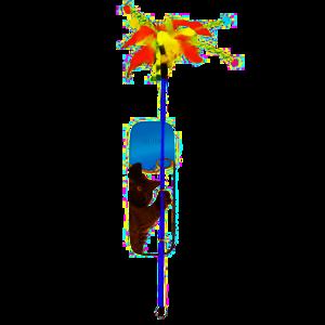 Duvo+ Speelhengel met veren 62 cm