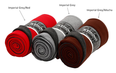 51 Degrees North Fleece Blanket 142 x 100 cm Imperial Grey