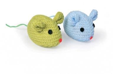 Camon Kattenspeelgoed set gehaakte muizen (2 stuks)