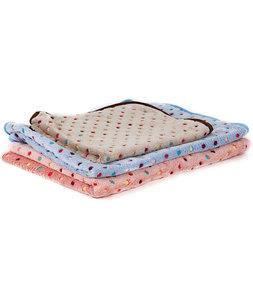Zachte deken met stippen, 100x70, Beige