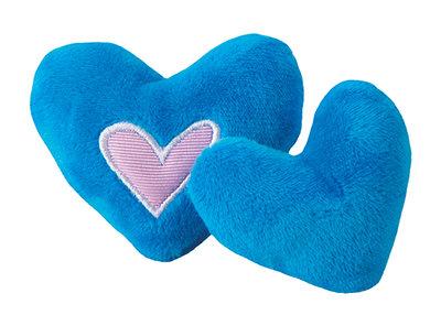 Rogz Catnip Plush Hearts Blue