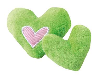 Rogz Catnip Plush Hearts Lime
