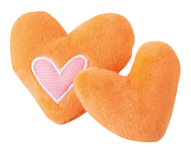 Rogz Catnip Plush Hearts Orange
