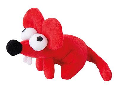 Rogz Catnip Plush Mouse Red